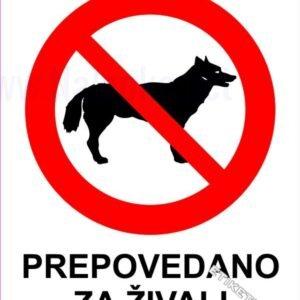 Znaki prepovedi Prepovedano za živali
