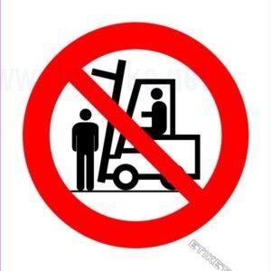 Znaki prepovedi Prepovedano zadrževanje pod bremenom