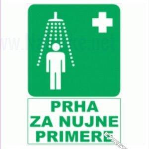 Evakuacijske poti in stopnišča Prha za nujne primere