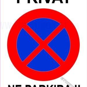 Znaki prepovedi Privat, ne parkiraj