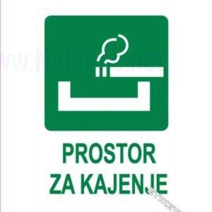 Evakuacijske poti in stopnišča Prostor za kajenje