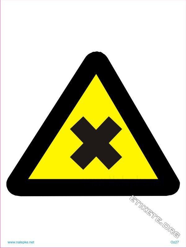 Znaki prepovedi Škodljiva in dražeča snov