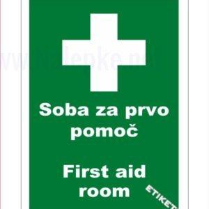 Evakuacijske poti in stopnišča Soba za prvo pomoč