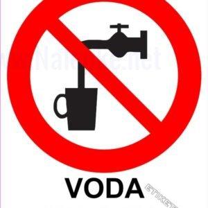 Znaki prepovedi Voda ni pitna 1