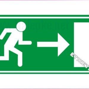 Evakuacijske poti in stopnišča Zasilni izhod – desno