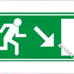 Evakuacijske poti in stopnišča Zasilni izhod – desno navzdol