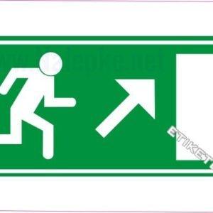 Evakuacijske poti in stopnišča Zasilni izhod – desno navzgor