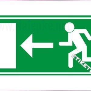 Evakuacijske poti in stopnišča Zasilni izhod – levo