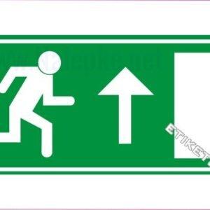 Evakuacijske poti in stopnišča Zasilni izhod – naravnost navzgor