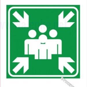 Evakuacijske poti in stopnišča Zbirno mesto