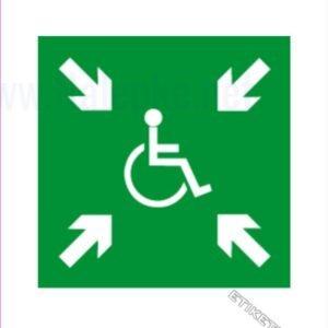 Evakuacijske poti in stopnišča Zbirno mesto – invalidi