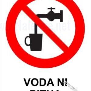 Znaki prepovedi Nalepka voda ni pitna