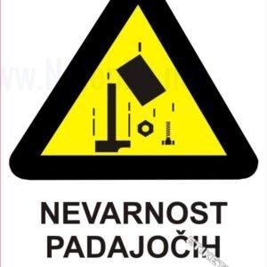 Opozorilni znaki Nevarnost padajočih predmetov 1