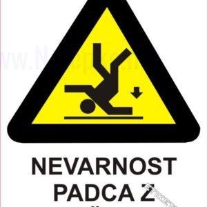 Opozorilni znaki Nevarnost padca z višine 1