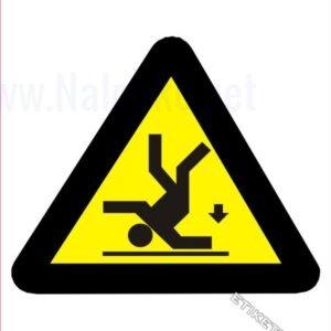 Opozorilni znaki Nevarnost padca z višine
