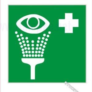 Evakuacijske poti in stopnišča Tuš (izpiralka) za oči
