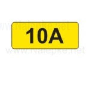 Električni tok nalepka 10A, 16x11mm, pola:40 kos