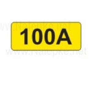 Električni tok nalepka 100A, 16x11mm, pola:40 kos