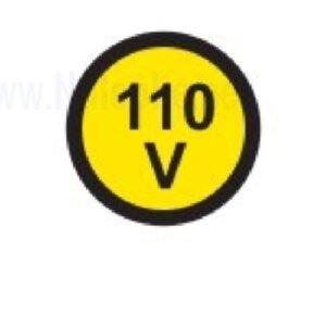 Električna napetost nalepka 110V, premer. 36mm, pola: 4 nalepke