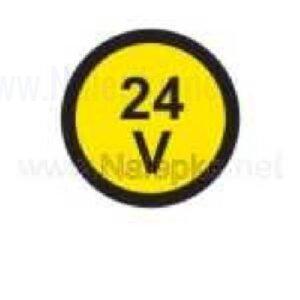 Električna napetost nalepka 24V, premer. 36mm, pola: 4 nalepke