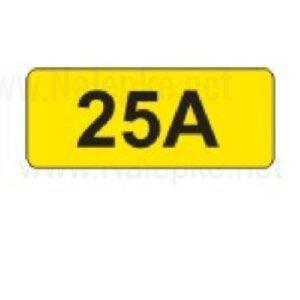 Električni tok nalepka 25A, 16x11mm, pola:40 kos