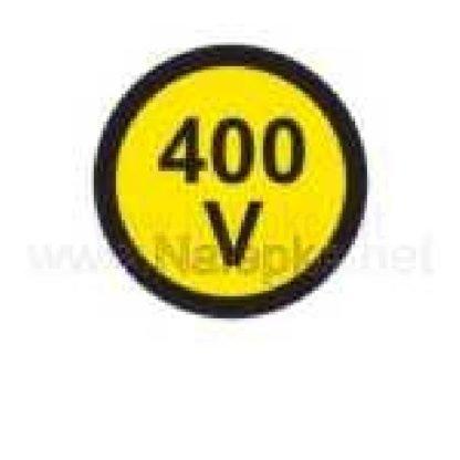 Električna napetost nalepka 400V, premer. 36mm, pola: 4 nalepke