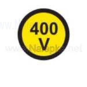 Električna napetost nalepka 400V, premer. 18mm, pola: 50 nalepk
