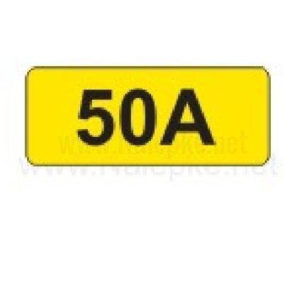 Električni tok nalepka 50A, 16x11mm, pola:40 kos
