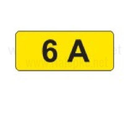 Električni tok nalepka 6A, 16x11mm, pola:40 kos