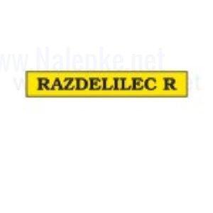 Mešano Nalepka Razdelilec R, dimenzija: 71x16mm, pola: 10 kos