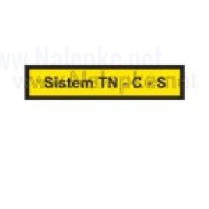Mešano Nalepka Sistem TN C S, dimenzija: 71x16mm, pola: 10 kos