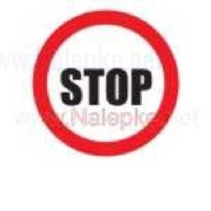 Mešano Nalepka Stop premer 36mm, pola: 4 nalepk
