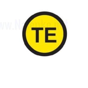 Mešano Zbiralke Brezšumna ozemljitev TE, premer 16mm, pola: 20 nalepk