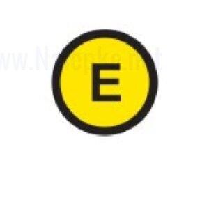 Mešano Zbiralke Ozemljitev E, premer 16mm, pola: 20 nalepk