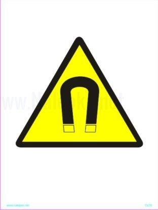 Opozorilni znaki Močno magnetno sevanje 2
