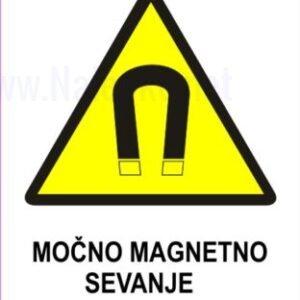 Opozorilni znaki Močno magnetno sevanje