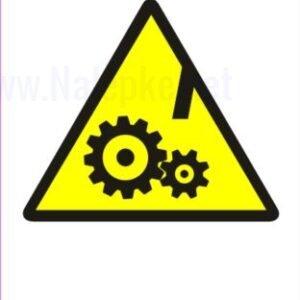 Opozorilni znaki Nevarnost gibljivih delov 2