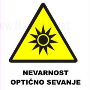 Opozorilni znaki Nevarnost optično sevanje