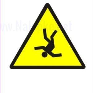 Opozorilni znaki Nevarnost padca iz višine 2
