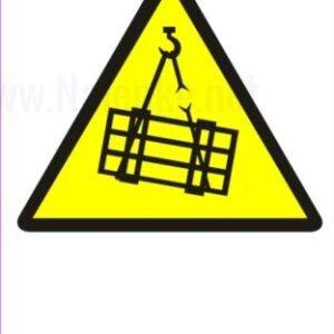 Opozorilni znaki Pozor viseče breme 2