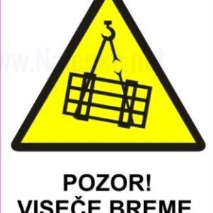 Opozorilni znaki Pozor viseče breme