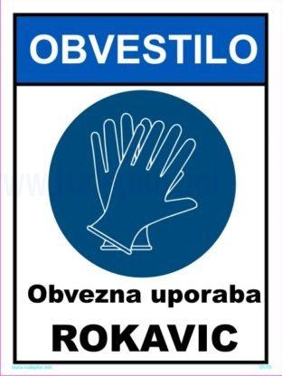 Opozorilni znaki covid Coronavirus obvezna uporaba rokavic