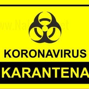 Opozorilni znaki covid Koronavirus karantena