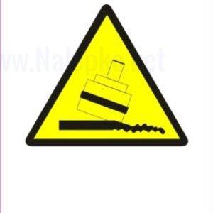 Opozorilni znaki Možnost prevrnitve med valjanjem 2
