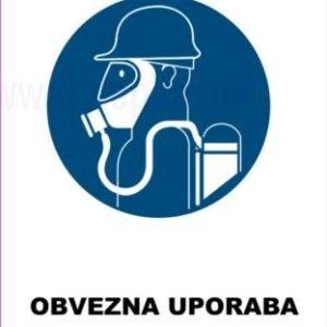 Opozorilni znaki obveze Obevzna uporaba dihalnega aparata 2