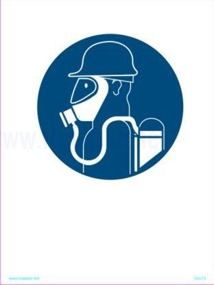 Opozorilni znaki obveze Obevzna uporaba dihalnega aparata