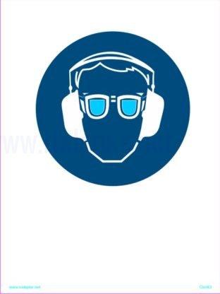 Opozorilni znaki obveze Obevzna uporaba slušnikov in očal