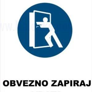 Opozorilni znaki obveze obvezno zapiraj vrata 2