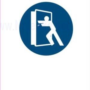 Opozorilni znaki obveze obvezno zapiraj vrata