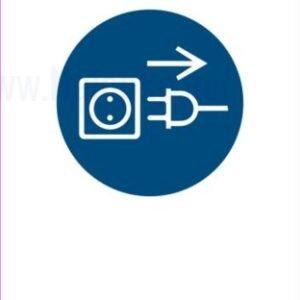 Opozorilni znaki obveze odklopite napajalni kabel